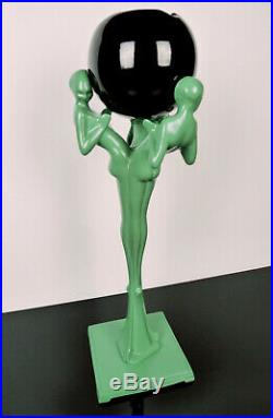 FRANKART T335 1920s Art Deco Nudes'3 Graces' Floor Ashstand Ashtray, Diana Lamp