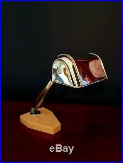 FRENCH ART DECO CHROME DESK LAMP. ARTISINAT FRANCAIS c 1930