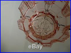 FRENCH ART DECO MULLER FRERES SKYSCRAPER 1930s GLASS LAMP