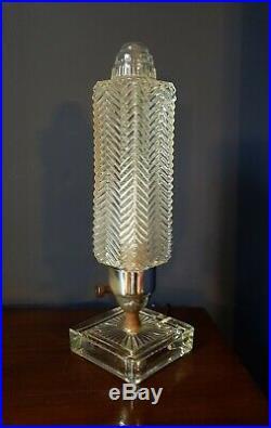 French Art Deco Boudoir Lamp Glass. 1930s