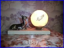 French Art Deco Deer Mood Lamp