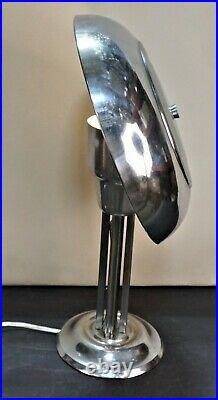 French Art Deco mushroom chrome desk lamp