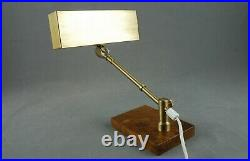GMA Piano Table Lamp Walnut Brass Art Deco Modernist Vintage Bauhaus 30s 40s 50s