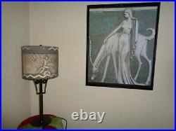 Gemini Primal 100 Years Old Art Deco Bronze Lamp, c. 1920