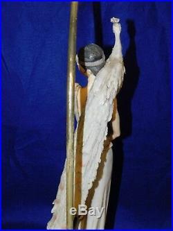 Giuseppe Armani Florence Capodimonte Art Deco Flapper Lady Peacock Lamp