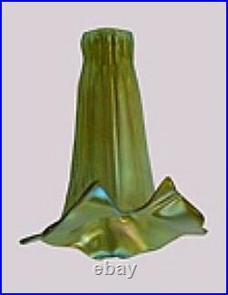 Gold Aurene CALLA LILY Iridized Glass Lamp Light Shade ART NOUVEAU Hand Blown