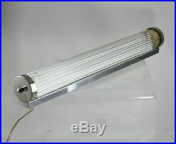 Große ART DECO Kinolampe Glasstäbe Lampe Petitot wall lamp