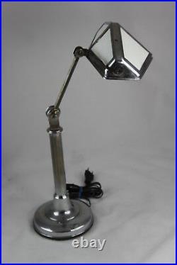 Große ART DECO PIROUETT Tischlampe Nizza Lampe Schreibtischlampe