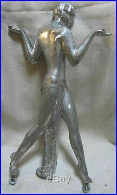 Guerbe Max Le Verrier lamp casting aluminum art deco Egyptian lamp USA