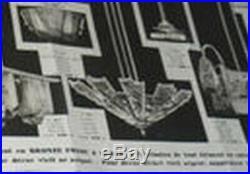 HUBENS & DEGUÉ FRENCH 1930 ART DECO CHANDELIER. Bronze muller daum era lamp