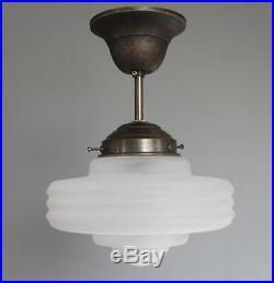 Art Deco Lamp Hangelampe Deckenlampe Art Deco Bauhaus Glas Matt