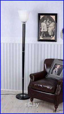 Holz Lampe Art Deco Mazda Stehleuchte Klassiker 1930 Stehlampe Standleuchte Glas