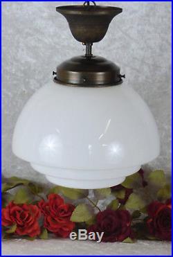 Wandlampe Messing Glas Weiss Wandleuchte Jugendstil Klassisch Wandleuchter Antik