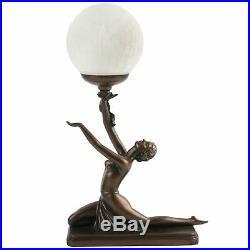 Juliana Gifts Lamp Bronze Art Deco Kneeling Lady