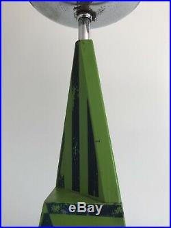KILLER Westwood Geometric Op Art Deco Mid Century Modernist Obelisk Pyramid Lamp