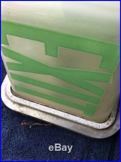 KOPP Vintage Green EXIT Sign Theater Lamp Light Art Deco glass globe office