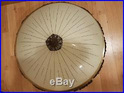 Kaiser Jugendstil Art Deco Plafoniere Antike Deckenlampe XXL 68 cm -Fotos folgen
