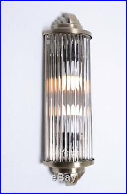 Kinoleuchte Art Deco Wandlampe Wandleuchte Antik Leuchte Kinolampe Glasstäbe neu