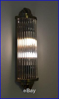 Kinoleuchte Art Deco Wandlampe Wandleuchte Klassik Leuchte Kinolampe Glasstäbe