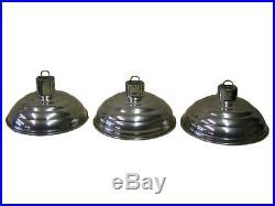 Kleine alte Alu Lampe, Art Deco Fabriklampe Werkstattlampe Loft Bar Bauhaus Stil