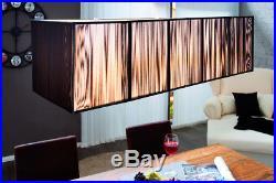 Kunstvolle Art Deco Hängeleuchte EXTENSO 80cm schwarz Designobjekt Lampe Lampen