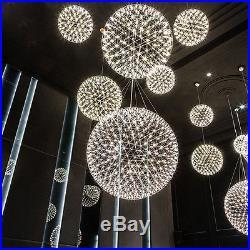 LED Ceiling Light Firework Art-Deco Pendant Lamp Chandelier Ball-Shape Hotel