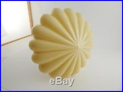 Lampadario Antico Autentico Originale Art Deco Vetro Opaline Old Ceiling Lamp
