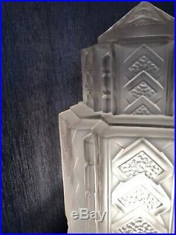 Lampe Art Deco Obus Tulipe Degue Muller Daum French Lamp Lustre Skyscraper