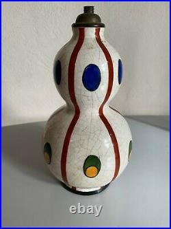 Lampe Art Deco ceramique craquelée crackle porcelain