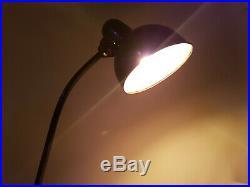 Lampe Leuchte Kaiser Idell Art Deco Arbeitslampe Werkstatt Schwarz