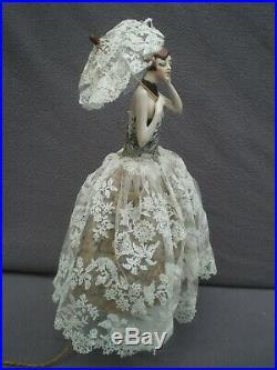 Lampe demi figurine art deco FASOLD & STAUCH 1920 vintage lamp half doll 20s