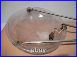 Lampe plafonnier vasque Art Déco SONOVER coupe verre pressé moulé éclairage