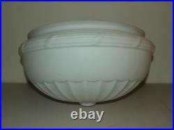 Large Antique Art Deco Frosted White Glass Ceiling Lamp Shade Globe 14 Fittter