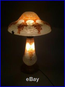 Le Verre Français Grande Lampe En Pâte De Verre Art Deco 1930