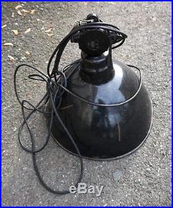 Leuchte Loft Lampe Emaille Deckenlampe Hängelampe ART DECO Bauhaus vintage