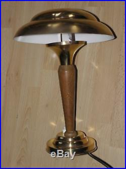 Light table lamp desk vintage art deco old lampe Bauhaus polished brass retro