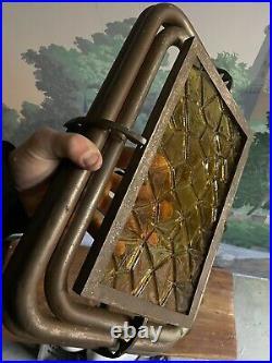 Lustre Design Moderniste Cuivre Bronze Art Deco Vintage Lampe Ancien