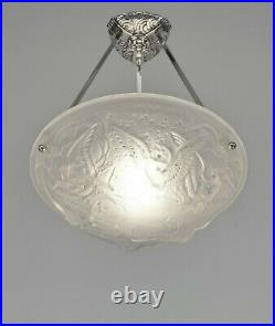 MULLER FRERES A PAIR OF FRENCH 1930 ART DECO PENDANTS chandelier lamp pendant