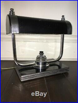 Markel Art Deco Machine Age Chrome Desk Lamp Eames Era