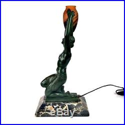 Max Le Verrier Art Deco Tischlampe Um 1930 Daum Nancy Fayral