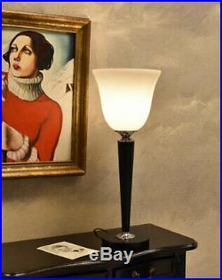 Mazda Lampe Antik Leuchte Tischlampe Art Déco 62 cm TISCHLEUCHTE Nachttischlampe