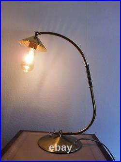 Messinglampe Tischlampe Art Deco Leuchte Brass table lamp 50 cm
