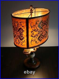 Mid 1920s Onyx Art Deco Lamp