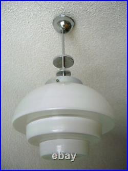 Mithras Deckenlampe Art Deco Bauhaus Glasschirm Pendelleuchte 1935
