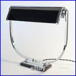 Modernist Art Deco Chrome Table Desk Lamp