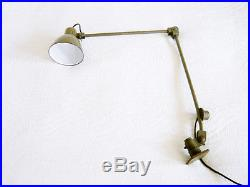 Modernist BAUHAUS Art Deco WORKSHOP LAMP Atelier Light KAISER IDELL Kandem ERA