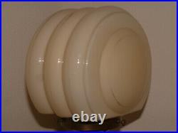 Orange Catalin Phenolic Bakelite Antique Metal Art Deco Lamp Lampe Rare Shade