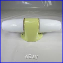 Org. 60er Jahre Art Deco Wagenfeld Wandlampe Doppelschirm Keramik Bad Leuchte 5