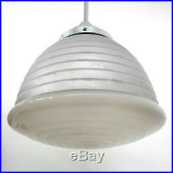 Original Adolf Meyer Pendellampe für Zeiss Ikon, Art Deco Industriedesign-Lampe