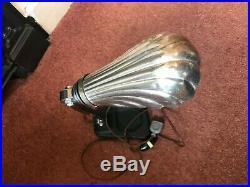 Original Art Deco Antique French Clam Shell Lamp